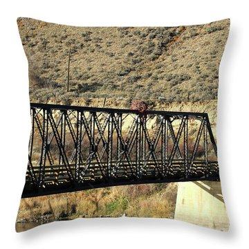 Bridge Over The Thompson Throw Pillow