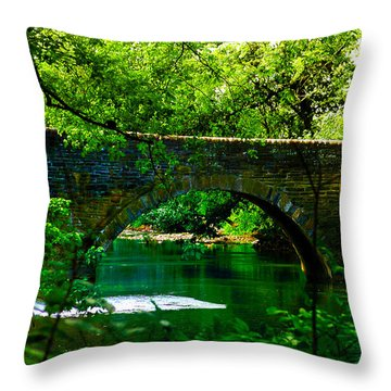 Bridge Over The Wissahickon Throw Pillow by Bill Cannon