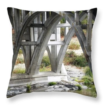Bridge Over Umpqua Throw Pillow