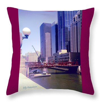 Bridge Overview Throw Pillow
