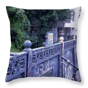Bridge Railing Throw Pillow