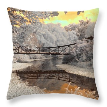 Bridge Reflections Throw Pillow by Jane Linders