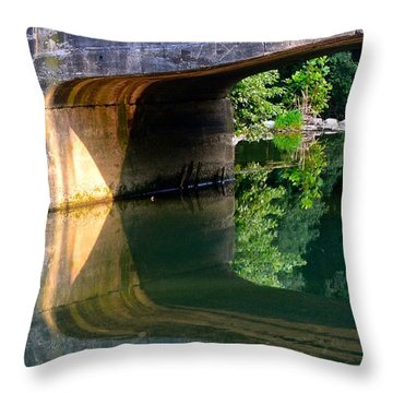 Bridge Shadow Geometry Throw Pillow