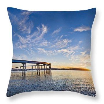 Bridge Sunrise Throw Pillow