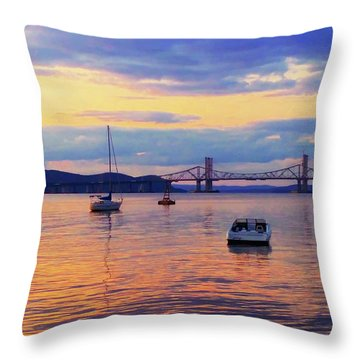 Bridge Sunset Throw Pillow