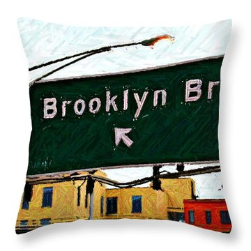 Bridge Thisaway Sketch Throw Pillow by Randy Aveille