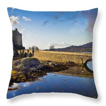 Bridge To Eilean Donan Throw Pillow