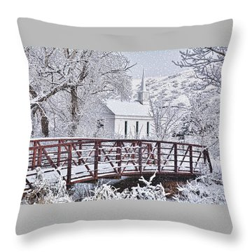 Throw Pillow featuring the photograph Bridge To Faith by Diane Alexander