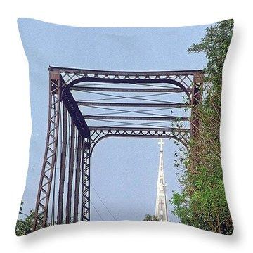 Bridge To God Throw Pillow
