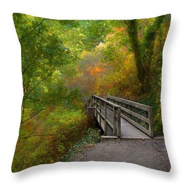 Bridge To Lightness Throw Pillow