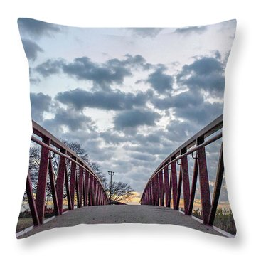 Bridge To The Clouds Throw Pillow