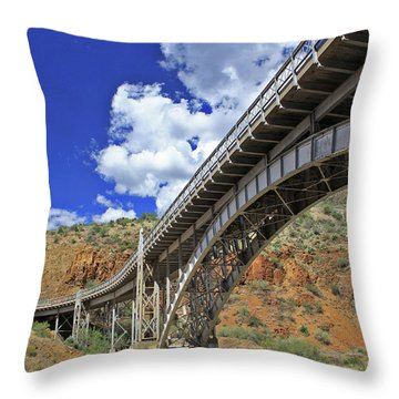 Bridge To Yesteryear Throw Pillow