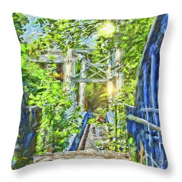Bridge To Your Dreams Throw Pillow