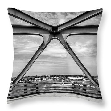 Bridge View In Portsmouth Nh Throw Pillow