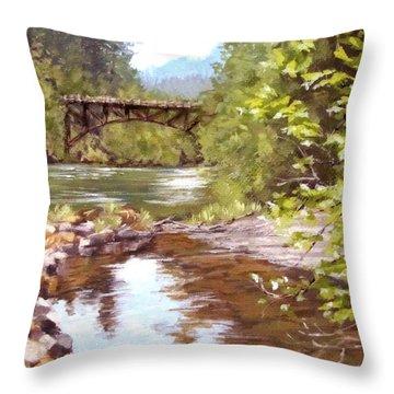Bridge View Throw Pillow