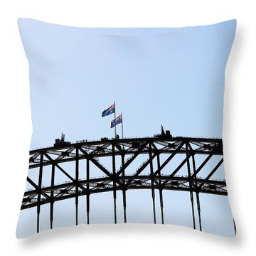 Throw Pillow featuring the photograph Bridge Walk by Stephen Mitchell