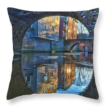 Bridges Across Binnendieze In Den Bosch Throw Pillow