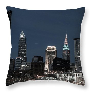Bridges And Buildings Throw Pillow