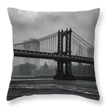 Bridges In The Storm Throw Pillow