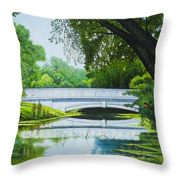Bridges Of Forest Park IIi Throw Pillow