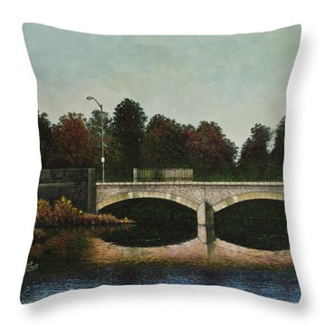 Bridges Of Forest Park Iv Throw Pillow