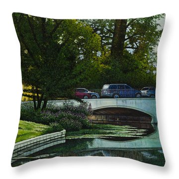 Bridges Of Forest Park V Throw Pillow