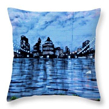 Bridges To New York Throw Pillow