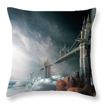 Bridges To The Neverland Throw Pillow
