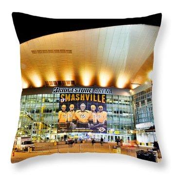 Bridgestone Arena Throw Pillow