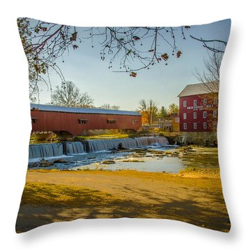 Bridgeton Mill Covered Bridge Throw Pillow