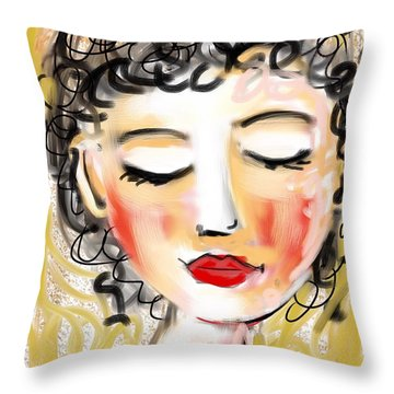 Bridgett Throw Pillow by Elaine Lanoue