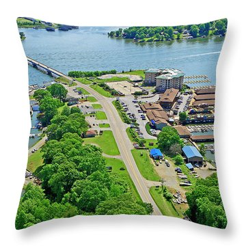 Bridgewater Plaza Aerial Throw Pillow