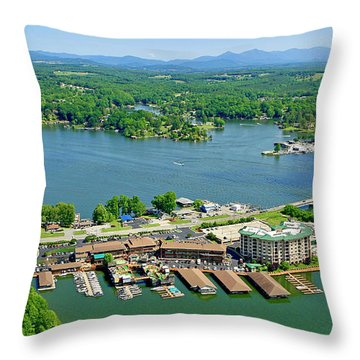 Bridgewater Plaza, Smith Mountain Lake, Virginia Throw Pillow