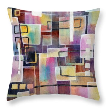 Bridging Gaps Throw Pillow by Hailey E Herrera