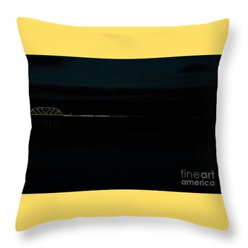 Bridging The Columbia River Throw Pillow