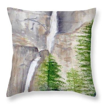 Bridal Veil Waterfall Throw Pillow