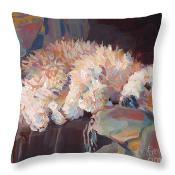 Brie As Odalisque Throw Pillow by Kimberly Santini