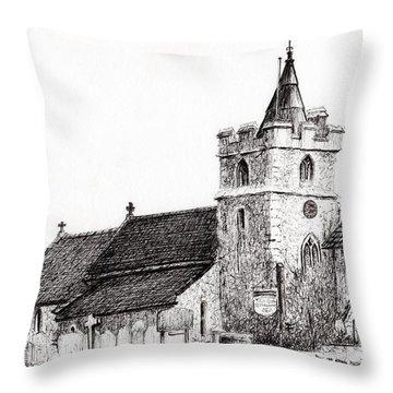 Brighstone Church Throw Pillow