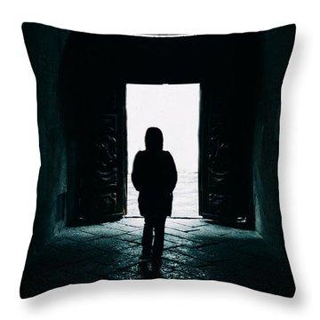 Bright Ancient Doorway Throw Pillow