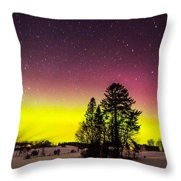 Bright Aurora Throw Pillow
