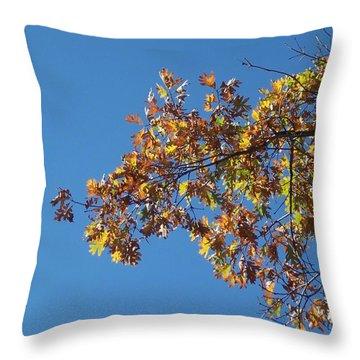 Bright Autumn Branch Throw Pillow