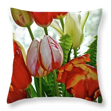 Bright Bouquet Throw Pillow