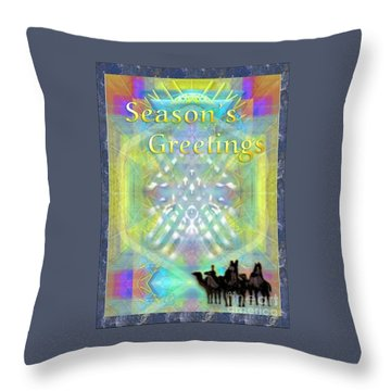 Bright Chalice Tree N 3 Kings Throw Pillow