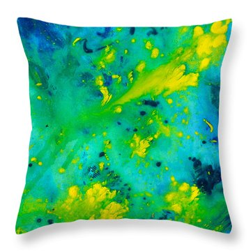 Bright Day In Nature Throw Pillow