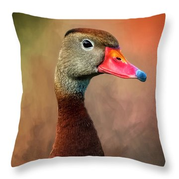 Bright-eyed Throw Pillow