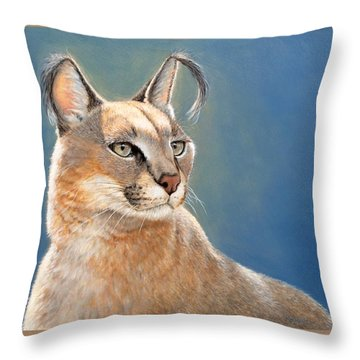 Bright Eyes - Caracal Throw Pillow