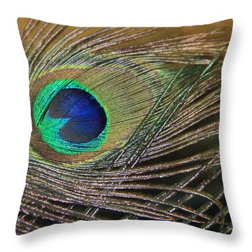 Bright Feather Throw Pillow