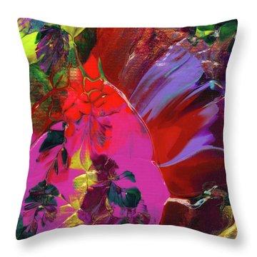 Bright Flaming Sun Flares Throw Pillow