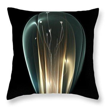 Throw Pillow featuring the digital art Bright Idea by Anastasiya Malakhova