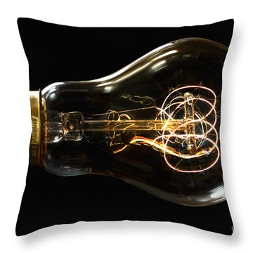 Bright Idea Throw Pillow by Mark Miller